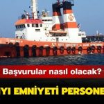 Kıyı Emniyeti Personel Alımı